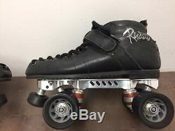 Vintage Riedell Revenge Plates Leather Quad Roller Speed Skates