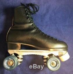 Vintage Riedell Rollar Skates Mens Size 9 Sure Grip Super X 6l Pacesetter Wheels