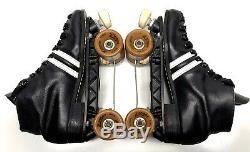 Vintage Riedell Roller Derby Speed Skates Zinger Wheels, Sunlite Plates, Sz 8