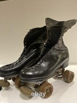 Vintage Riedell Roller Skates Douglas Snyder Plates All American Wheels Size