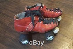 Vintage Riedell Roller Skates/ Quads Red Size 8 Mens