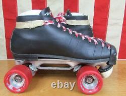 Vintage Riedell Roller Skates Speed Skates Derby Concorde Sure Grip Wheels Sz. 9