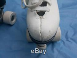 Vintage Riedell Roller Skates Sure Grip Century Red Wing MN White M SZ 5 W SZ 6
