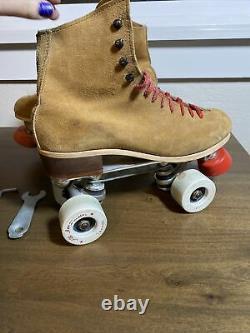 Vintage Riedell Roller Skates Sure Grip Century suede all american vanguard