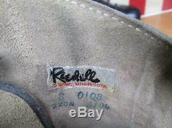 Vintage Riedell Roller Skates Sure Grip Classic Olympian Plus Belair Wheels Sz. 8