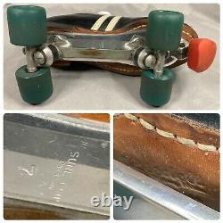 Vintage Riedell Speed Roller Skates Sure Grip Cyclone Black-Plate Sz 7-Free Ship