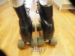 Vintage Riedell Sure Grip Century Size 10.5 Black Roller Skates Elegant