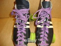 Vintage Riedell Sure Grip Cyclone Roller Skates with 3 Sets Of Wheels Womens Sz 9