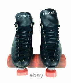 Vintage Riedell USA Speed Roller Skates Sure Grip Invader Psycho Pigs Wheels
