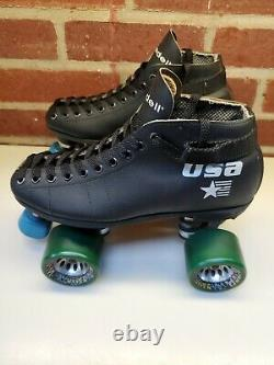Vintage Riedell USA Turbo GT Roller Skates Hyper Witch Doctor Wheels Womans Sz 6