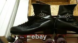 Vintage Roller Skates Riedell 220W Size 8.5 Sure-Grip Skate Plates FREE SHIPPING