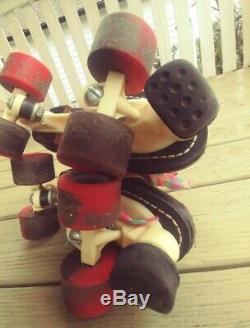 Vintage Roller Skates Riedell RS1000. Men's Size 6 Zinger wheels