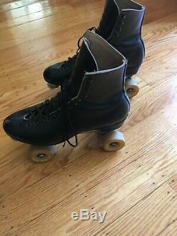 Vintage Roller Skates Riedell Red Wing Boots with 62mm Powell Bones Wheels M11.5