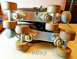 Vintage Roller Skates Riedell Red Wing Mens Douglass Snyder Imperial Plates 11
