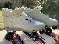 Vintage Sure Grip Aerobiskate Riedell 795 Grey Mens 13 Complete Outdoor Skate