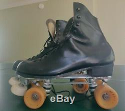 Vintage Sure Grip Century Roller Skates Size 12 Riedell Boot with Blazer Belairs