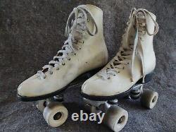 Vintage Women's Riedell Sure Grip white Super X 5R Quad Roller Skates Size 7 USA