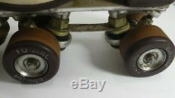 Vintage Womens Riedell Roller Skate Douglas Snyder Custom Built #3 Plates & Case