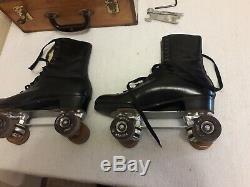Vintage mens Riedell Red Wing Douglas Snyder Custom Built Roller Skates Size 11