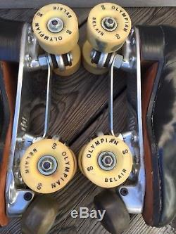 Vtg Douglas Snyders Super Deluxe Riedell Roller Skates Mens (rare)sz-9.5
