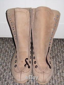 Vtg Nos Lot Of 16 Pairs Womens Riedell Roller Skates Suede Brown Leather Size 4