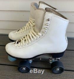 Vtg RIEDELL Roller Skates ROYAL 900 Ladies sz 6 SURE GRIP PLATES Fafnir Bearings