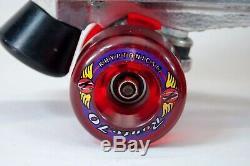 Vtg RIEDELL Roller Skates Super X5R Sure-Grip Kryptonics Wheels Men7 Women8.5