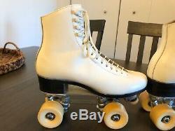Vtg Riedell Snyder Super Deluxe Roller Skates Plate Sz 7 Boot Sz 7 1/2 Powell