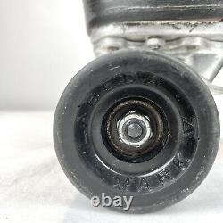 Vtg Riedell Speed Roller Skates Sure Grip Cyclone Black Labeda Mark V Size 8.5