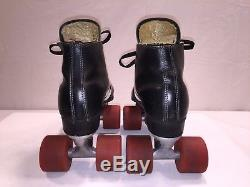 Vtg. Riedell USA Speed Roller Skates With Zinger Vanguard Wheels Men's Size 7