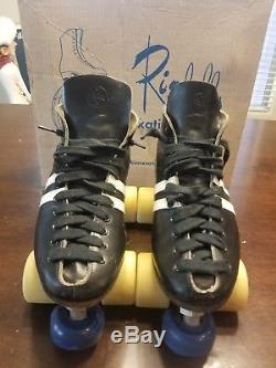 Vtg Roller Skates Riedell Red Wing Leather MENS WOMENS SIZE 7