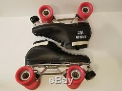 Vtg USA Riedell 122 Roller Skates Sure Grip 7.5