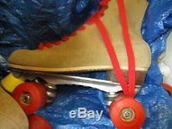 WOMEN RIEDELL Old School Suede Skates size 7 Heel to toe `91/2, Krypto Wheels