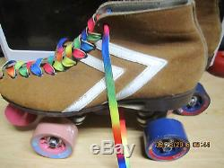 WOMEN RIEDELL Old School Suede Speed Skates size 1