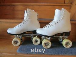 Women's Figure Roller Skates Riedell Royal Boot Atlas Plates Star Wheels Size 5