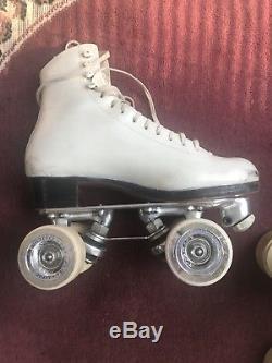 Women's Size 6 Riedell 375 Roller Skate Douglas Snyder roll Line Wheels