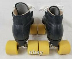 Women's Size 6 Riedell 595 Roller Speed Skates with Black Plates + SureGrip Wheels
