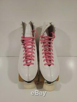 Women's Vintage Riedell Roller Skates Sure Grip Olympian 60 Belair wheels Sz 10