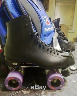 Womens Size 8 Black Quad Roller Skates
